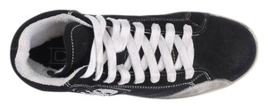 Cult Italian Suede Trainers High Tops Black White Athletic