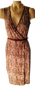 Max and Cleo short dress ivory/browns on Tradesy