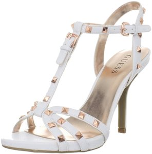 Guess white leather Sandals