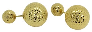 Other 18K Yellow Gold Diamond Cut Balls Earrings