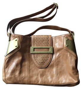 Jessica Simpson Leather Gold Purse Cross Body Bag