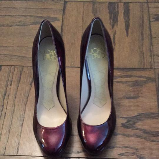Joan & David Dark Red Patent Pumps