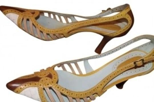 Preload https://item1.tradesy.com/images/bottega-veneta-beige-yellow-and-brown-textured-multi-colored-pumps-size-us-75-142060-0-0.jpg?width=440&height=440