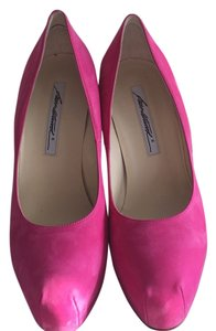 Brian Atwood Suede Pink Platforms
