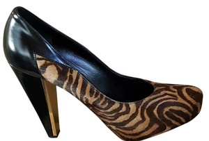 Donna Karan Leather Pump Animal Print Pumps