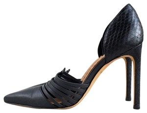 Dolce Vita Leather Pump Dorsay Wooden Black Pumps