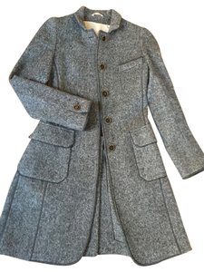 Brunello Cucinelli Wool Fitted Soft Jacket Coat