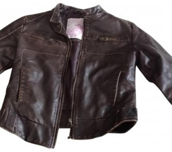 Preload https://img-static.tradesy.com/item/142068/brown-distressed-faux-leather-bomber-size-4-s-0-0-650-650.jpg