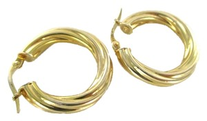 Other 14KT KARAT YELLOW GOLD EARRINGS HOOP TWISTED 1.8 GRAMS MILOR ITALIAN ITALY JEWEL