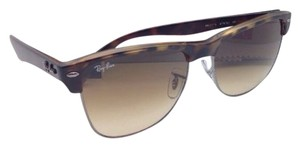 Ray-Ban New Ray-Ban Sunglasses CLUBMASTER OVERSIZED RB 4175 878/51 Havana & Gunmetal Frame w/ Brown Gradient Lenses
