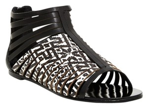 Twelfth St. by Cynthia Vincent Leather Festival Black White Sandals