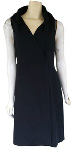 Ann Taylor Jersey Wrap Lbd Collar Dress