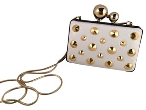 Franchi White And Gold Clutch