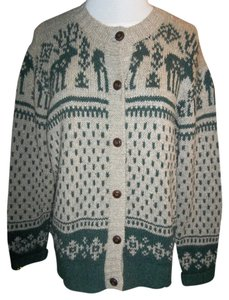 St. John Nordic Design Cardigan Buttons Sweater