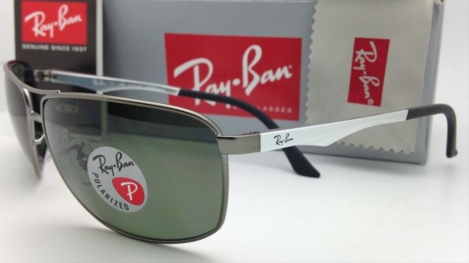 ba5592571e Ray-Ban Rb 3506 029 9a Matte Gunmetal W  Green Lenses Polarized 029 9a  64-13 Frame W  Sunglasses