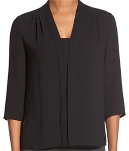 Hugo Boss Silk 3/4 Sleeve Silk Top Black