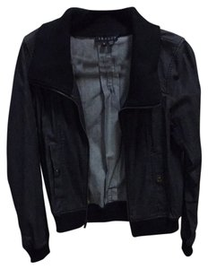 Theory Moto Vintage Crop Cool Buttons Motorcycle Jacket