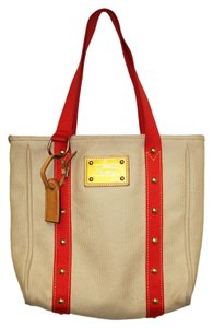 Louis Vuitton Tote in Tan/Red