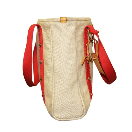Louis Vuitton Mm Antigua Tote in Tan/Red