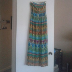 Multi Maxi Dress by Love Tree Colorful Maxi Sheer Medium