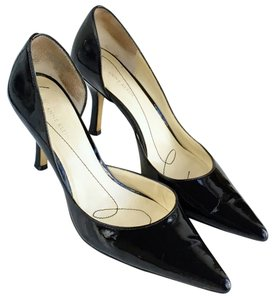 AK Anne Klein Pointed Toe Patent Leather Black Pumps