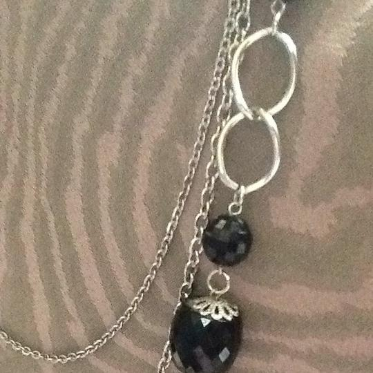 Other Triple Strand Silver And Bead Neclace