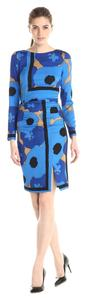 Tracy Reese short dress Blue Floral Scarf Silk Crepe Print on Tradesy