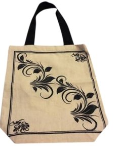 Michel Design Works French Canvas Tote in Black/Natural