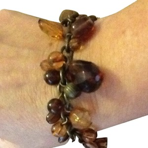Dangle Stones And Faceted Beads Bracelet