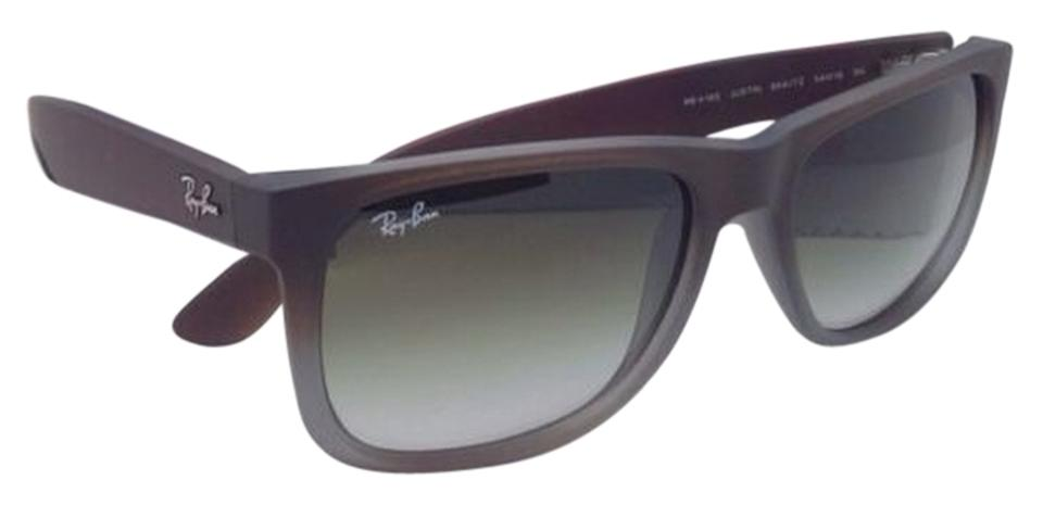 895797b2f933 Ray-Ban Justin Rb 4165 854 7z Rubber Brown On Grey W  Green Fade ...