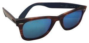Ray-Ban New Ray-Ban WAYFARER Sunglasses RB 2140 1176/17 50-22 Havana Tortoise & Blue Frame / Blue Mirror