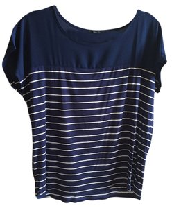 Forever 21 Striped T Shirt navy