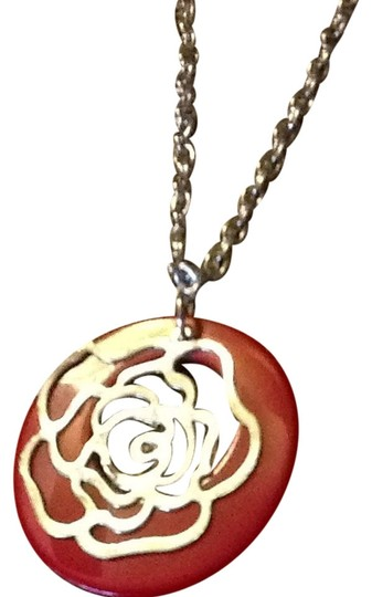 Other Peony Cut Out Pendant On Lucite Disk