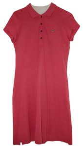 Lacoste short dress Bright Berry Pink Size 40 Polo Size 8 on Tradesy