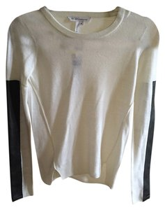 BCBGeneration Longsleeve Faux Leather Top white