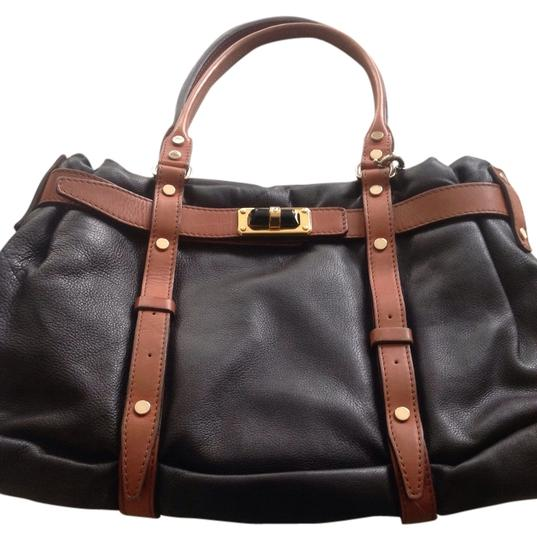 Preload https://img-static.tradesy.com/item/1421178/lanvin-shoulder-bag-black-and-saddle-brown-1421178-0-0-540-540.jpg
