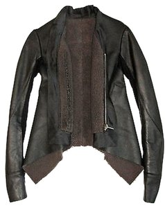 Rick Owens Leather Black Jacket