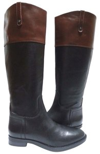 Enzo Angiolini Leather Two-tone Black/Brown Boots