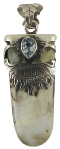 Island Silversmith Island Silversmith .925 Silver Agate Topaz Tribal Amulet Pendant 0601S *FREE SHIPPING*