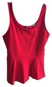 Express Peplum Stretchy Top Red