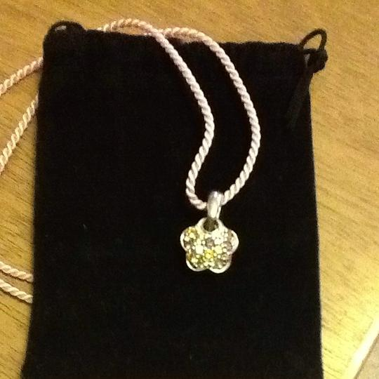 Other Sterling And Gemstone flower Pendant