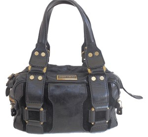 Jimmy Choo Small Leather Satchel in Black