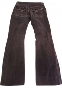 Buffalo David Bitton Boot Cut Pants Dark Grey