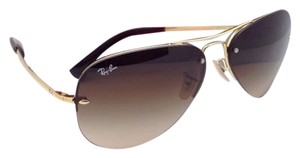 Ray-Ban New Ray-Ban Sunglasses RB 3449 001/13 59-14 Arista Gold Frame w/ Brown Gradient Lenses
