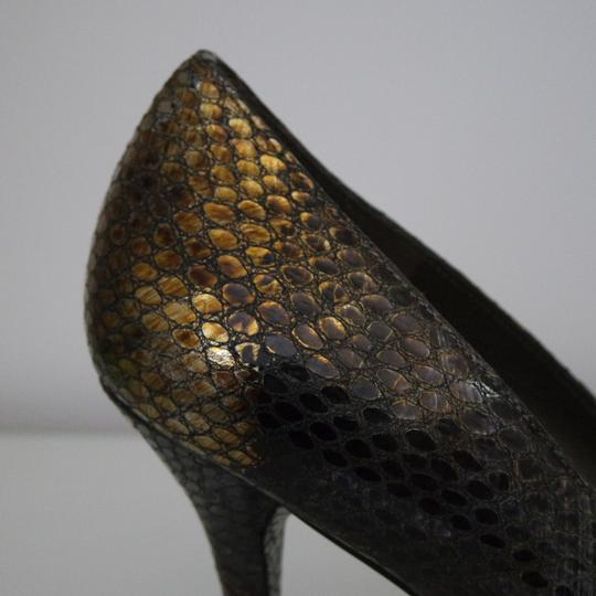 Stuart Weitzman Snake-embossed Classic Pointed Toe Snake Pumps