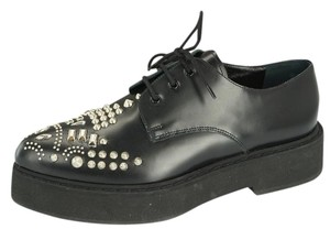 Alexander McQueen Lace Up Platform black Flats