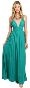 Emerald Green Maxi Dress by Honey Punch Maxi Tassels Empire Waist