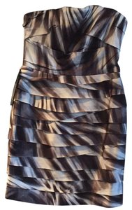 bebe Party Pleated Strapless Night Out Date Night Dress