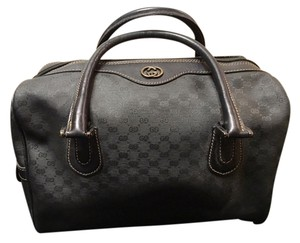 Gucci Leather Straps Satchel in Black