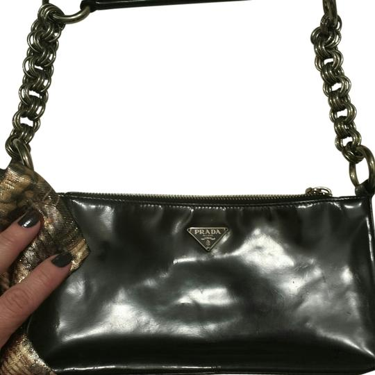 Prada Shiny Go-to Evening Shoulder Bag